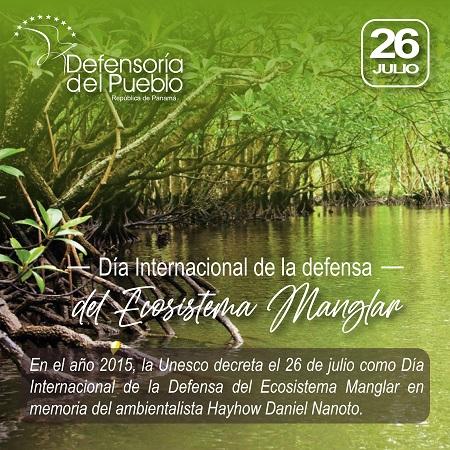 Día Internacional de la Defensa del Ecosistema Manglar
